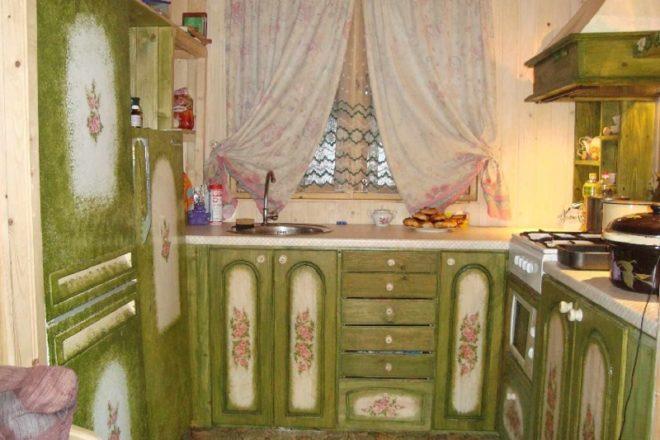 Роспись старого кухонного гарнитура