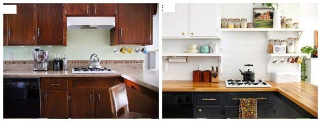 Обновлённая своими руками кухонная мебель