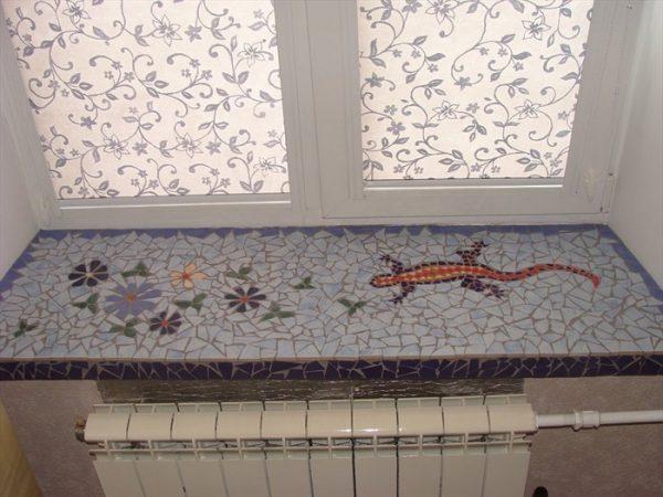 Мозаика с рисунком своими руками на подоконнике