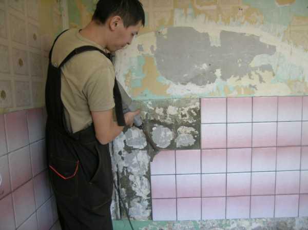 Замена старой повреждённой плитки