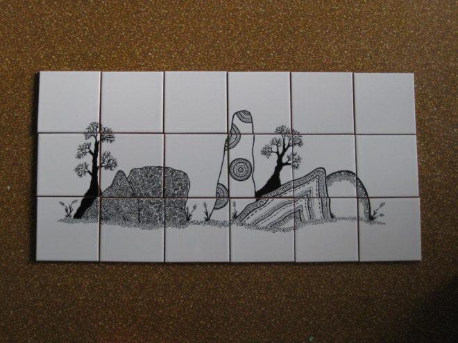 Рисование на старой кафельной плитке