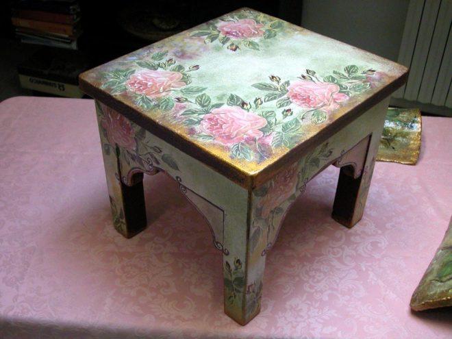 декупаж старой мебели своими руками