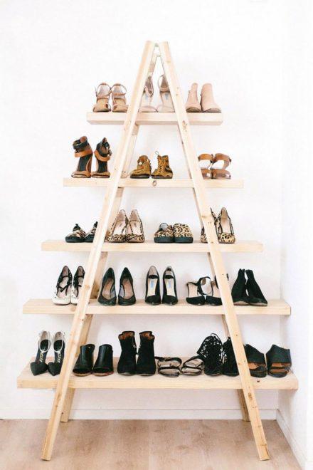 необычная полка для хранения обуви