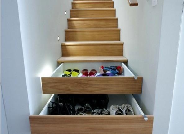 хранение обуви в нишах