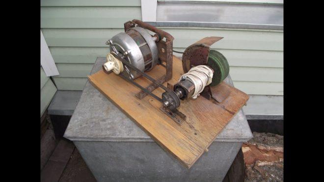 Наждак из двигателя от стиральной машины