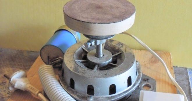 Шлифовальный прибор из двигателя от стиральной машины