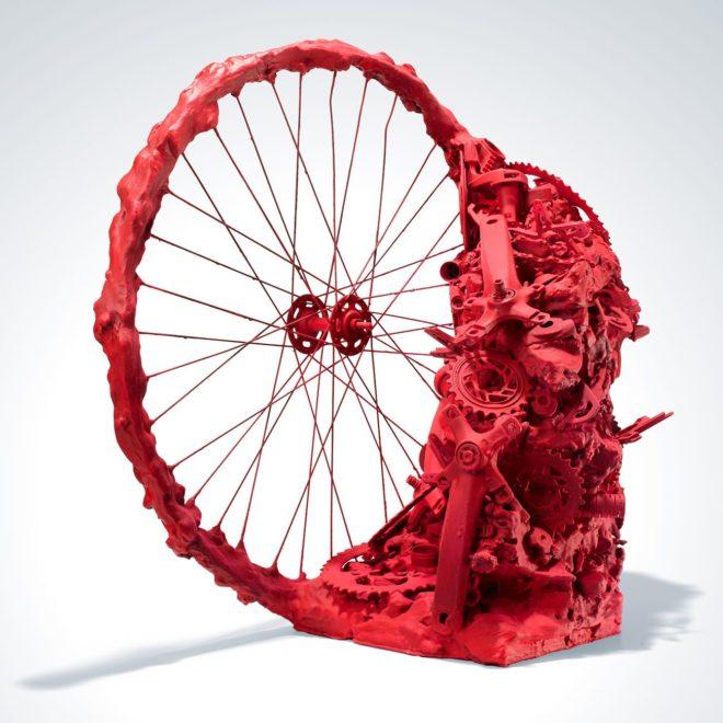 декор из старого велосипеда