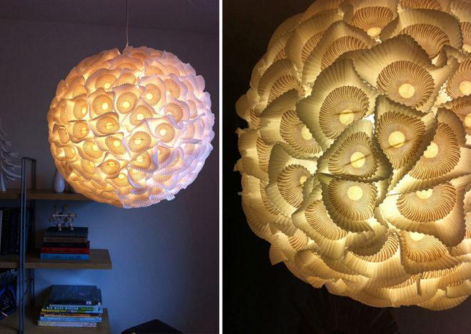 Светильник из одноразовых форм для кекса