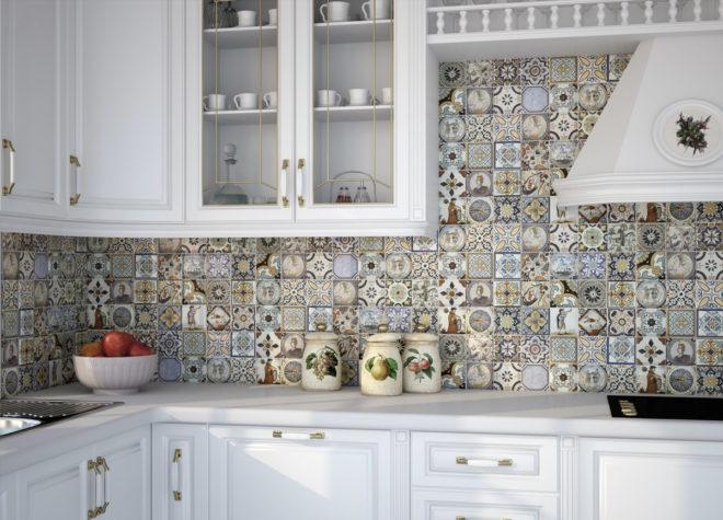 керамическая плитка в отделке кухни