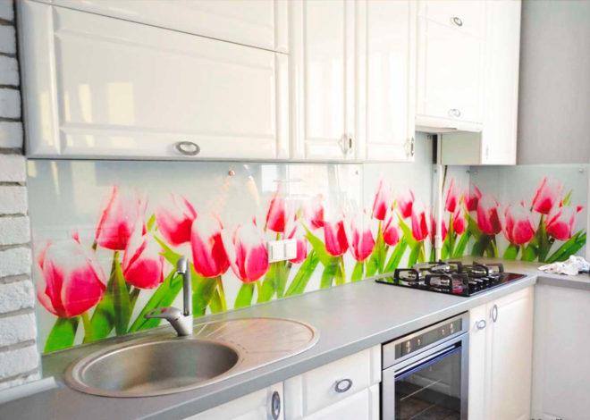 стеновые панели в интерьере кухни