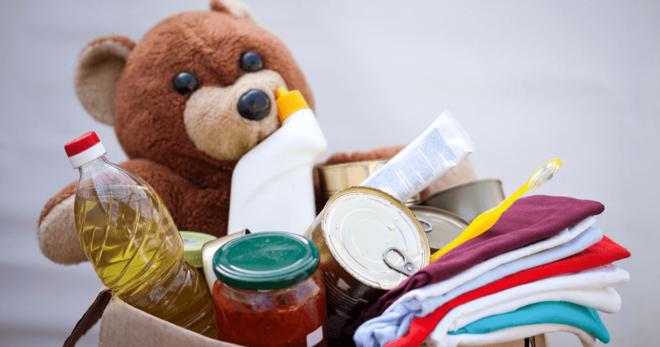 отдать вещи на благотворительность