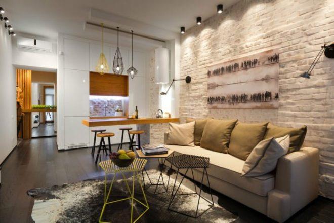 Стиль лофт в маленькой квартире