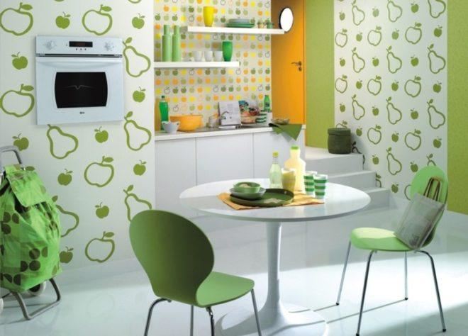 какие цвета обоев подходят для кухни