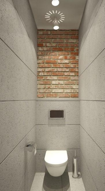 Современный дизайн маленького туалета