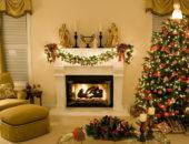 Интерьер гостиной на Новый год