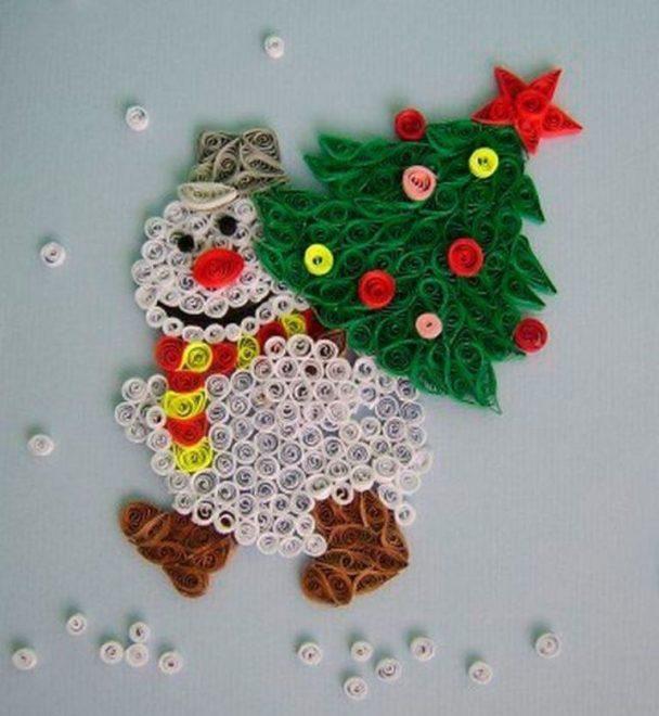 Снеговик с ёлкой