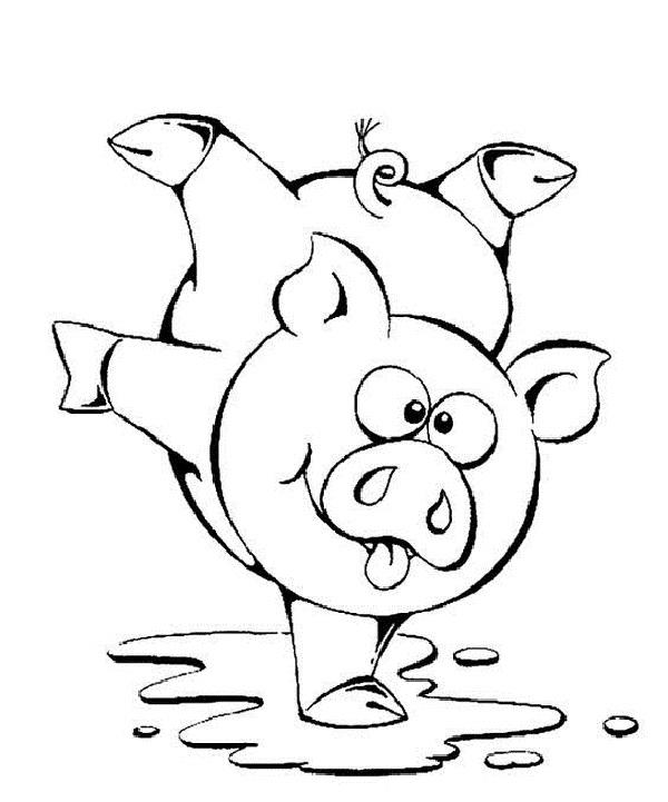 Смешные картинки свинок на новый год разукрашки