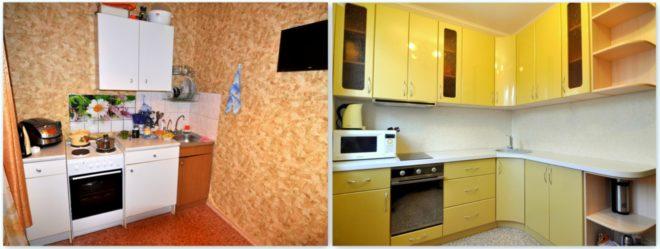 Ремонт кухни в хрущевке до и послеРемонт кухни в хрущевке до и после