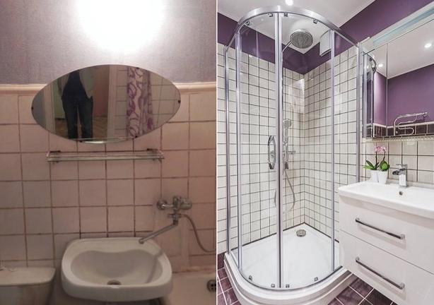 Ванная комната до и после ремонта