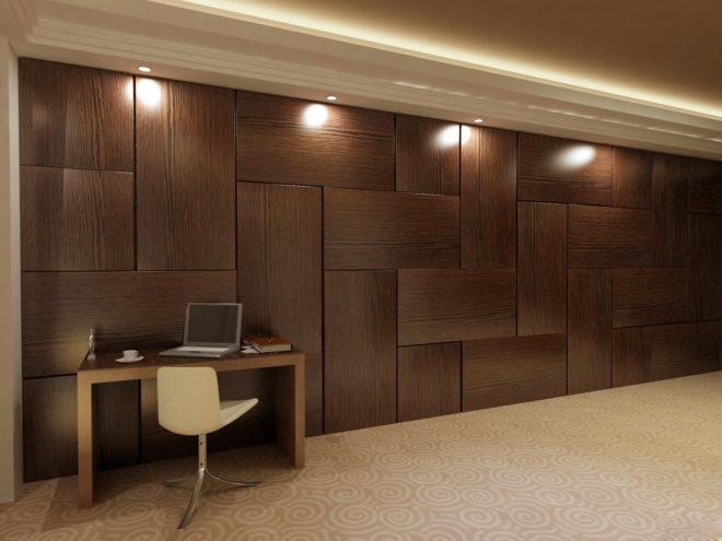 декоративные панели для внутренней отделки стен в кабинете