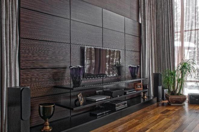 чёрные декоративные панели для внутренней отделки стен