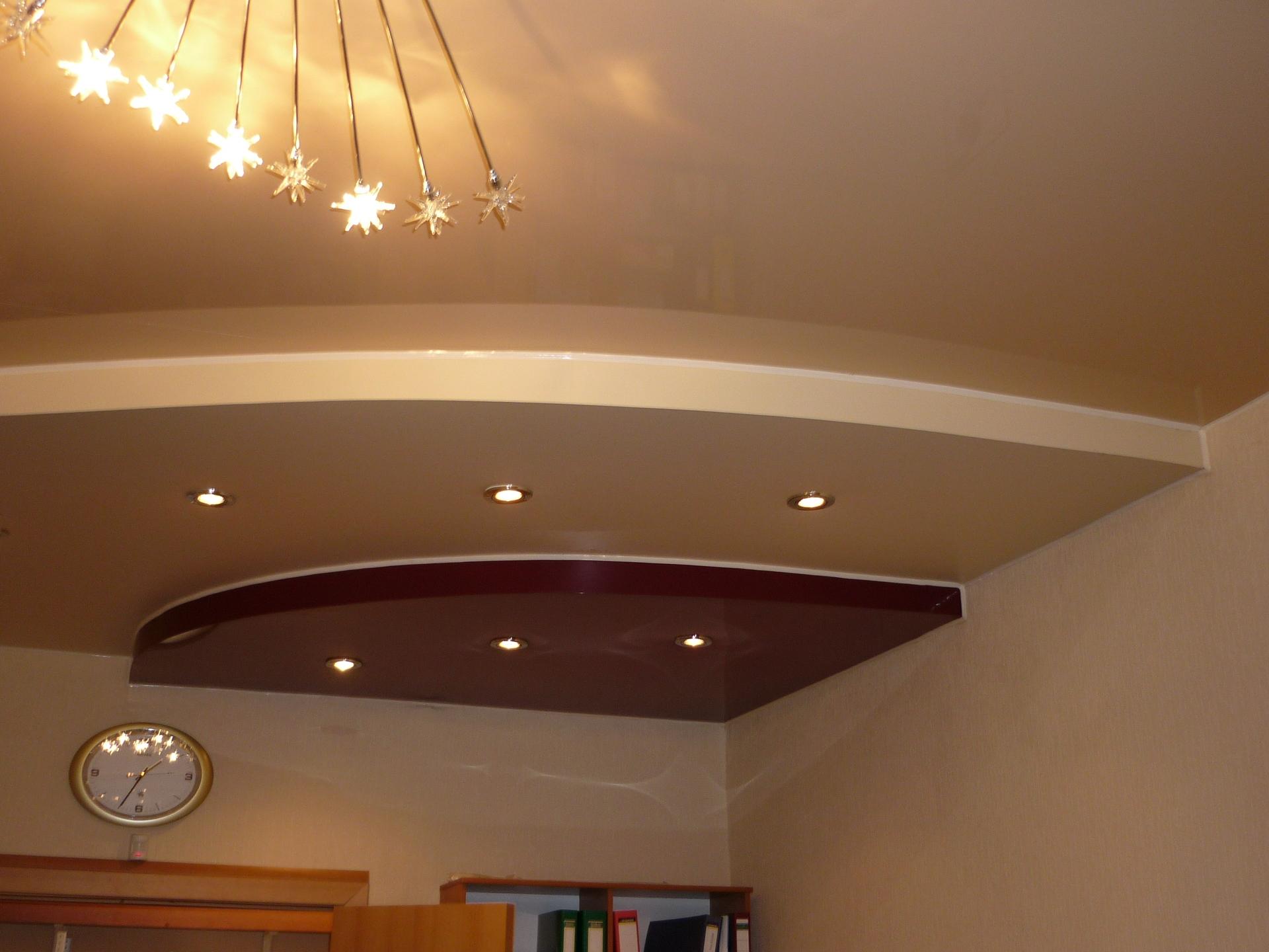многоуровневые потолки из гипсокартона фотогалерея тыльную
