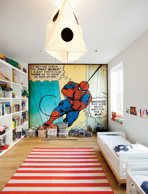 Обои в детской комнате с изображением человека-паука