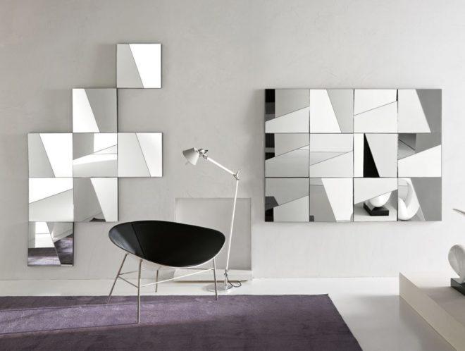 Зеркальные панно в интерьере