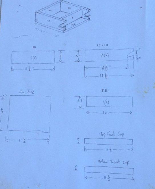 Схема изготовления держателя