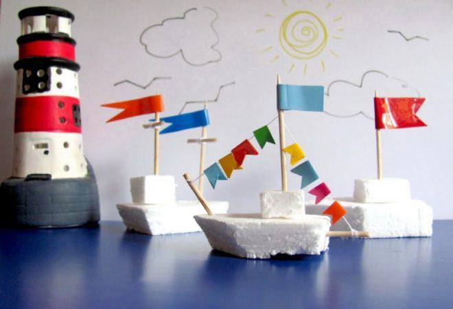 Кораблики из пенопласта