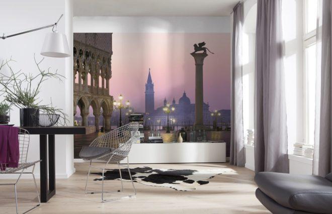 Фотообои с архитектурным ансамблем, расширяющие пространство