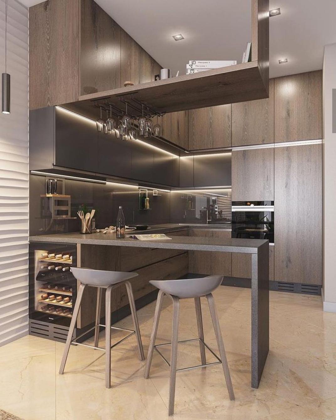 барные стойки для кухни подборка идей на фото
