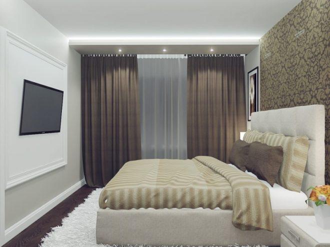 Дизайн узкой спальни в хрущёвке