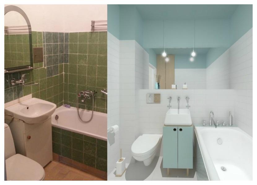 Фото ремонта ванной комнаты малых размеров: создаем ванную