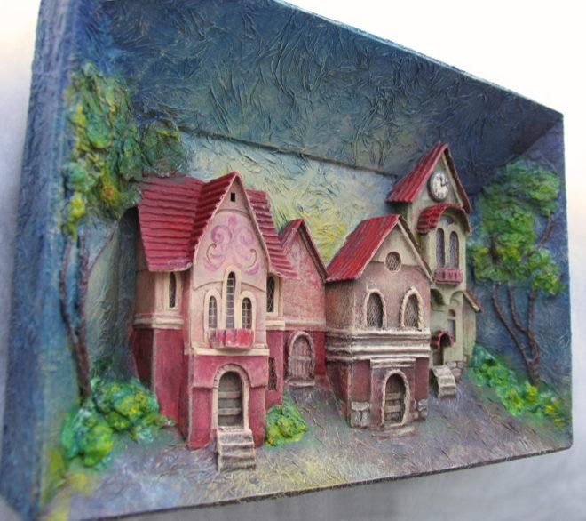 Картина из картона