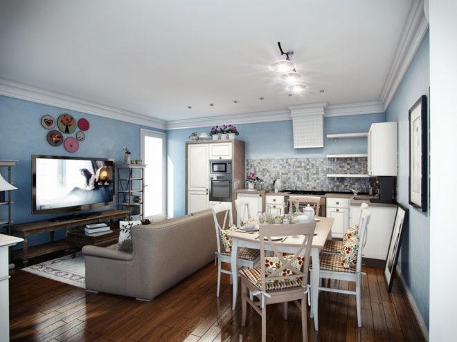 Кухня-гостиная 20 кв. м