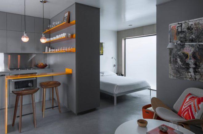 Минимализм в оформлении однокомнатной квартиры