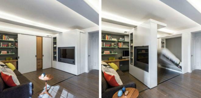 Самое главное, что надо сэкономить пространство и правильно расставить мебель