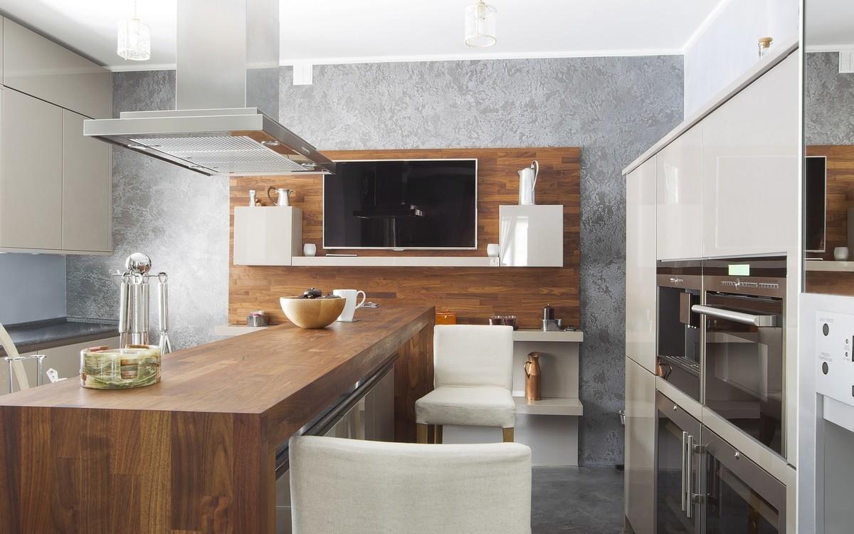 кухня картинки с телевизором компании