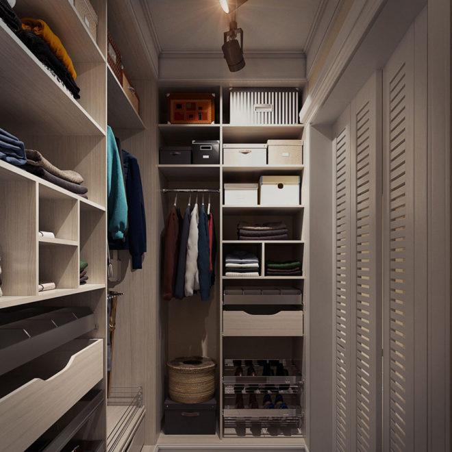 Отдельная гардеробная