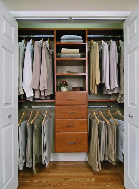 Гардеробная в шкафу