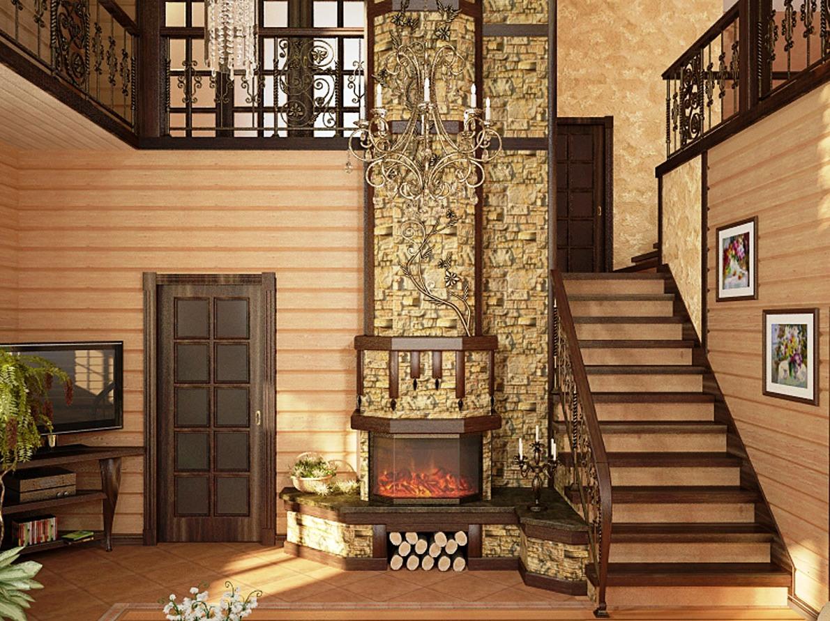отделка брусового дома изнутри фото простым вариантом исполнения