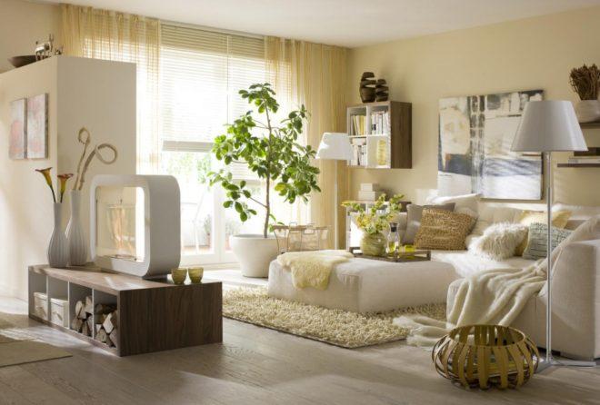 Светлый интерьер квартиры в эко-стиле