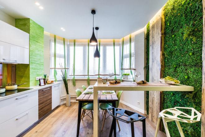 Фото кухни в эко-стиле