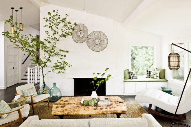 Белая комната в эко-стиле
