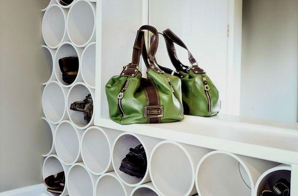 полочки для обуви из полипропиленовых труб своими руками