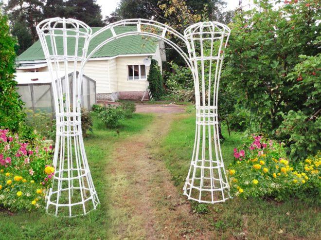арка из полипропиленовых труб своими руками