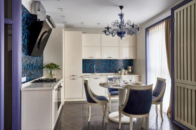 Вариант оформления интерьера кухни 11 кв. м