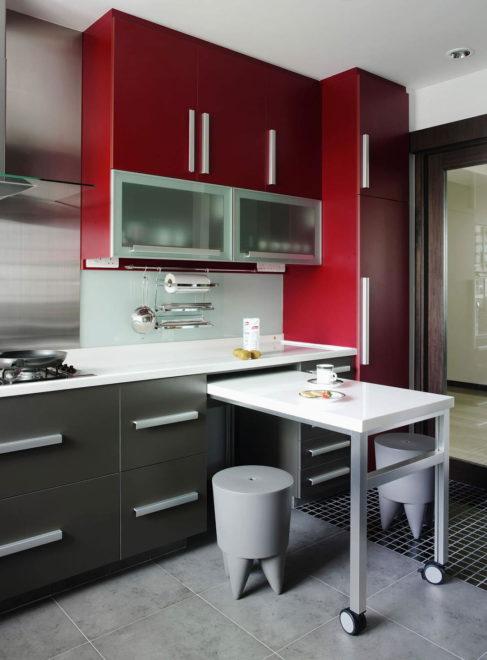 Приставной столик для кухни 11 кв. м