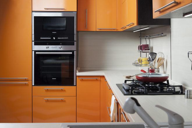 Встроенная техника на кухне 11 кв. м